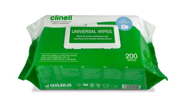 Clinell Universal Sanitizing Wipes - 200 wipes per sachet ref CW200X6