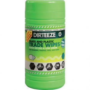 Dirteeze Glass and Plastic Wipes 80 wipes per tub
