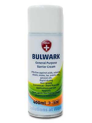 Bulwark aerosol barrier cream