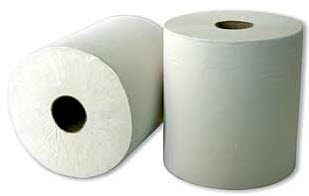 Leonardo 100% PULP ROLL TOWEL - 2-PLY White