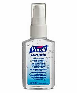 Purell Advanced Gel 60ml personal pump bottle ref 9606-24