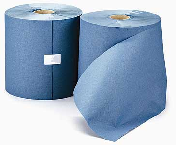 Leonardo - 1-ply Blue Recycled Roll Towel