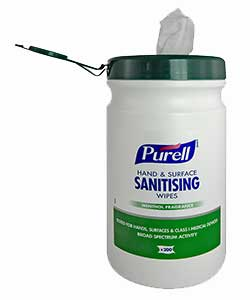 PURELL Hand & Surface Sanitizing Wipes - 200 wipes per tub
