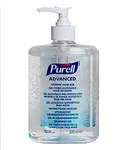 Purell Advanced Hygienic Hand Rub 500ml pump bottle