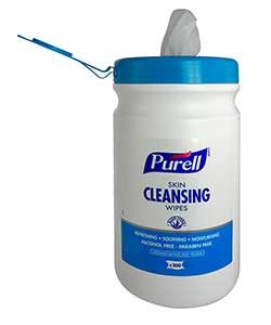 PURELL Skin Cleansing Wipes - tub of 200 wipes