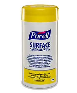 PURELL Surface Sanitizing Wipes - Case of 12 Canisters of 100 wipes