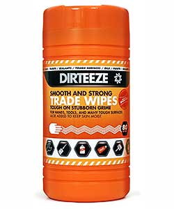 Dirteeze Smooth and Strong Wet Wipes - 80 wipe tub