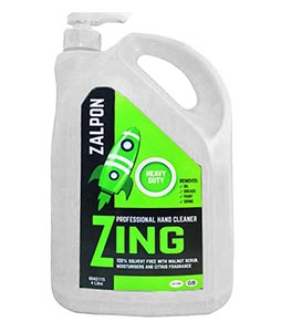 ZALPON Zing Heavy Duty Hand Cleaner - 4 litre pump bottle
