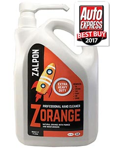 Zalpon ZORANGE Extra Heavy Duty Hand Cleaner - 4 litre pump bottle