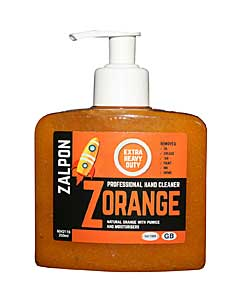 Zalpon ZORANGE Extra Heavy Duty Hand Cleaner - 250ml pump bottle